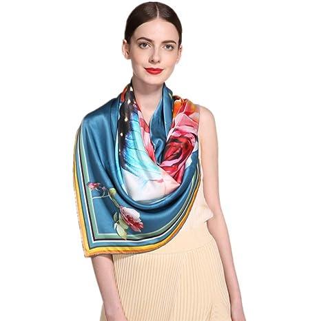 NEW Rollo de mano de seda Imprimir bufanda Primavera y verano protector solar toalla de playa