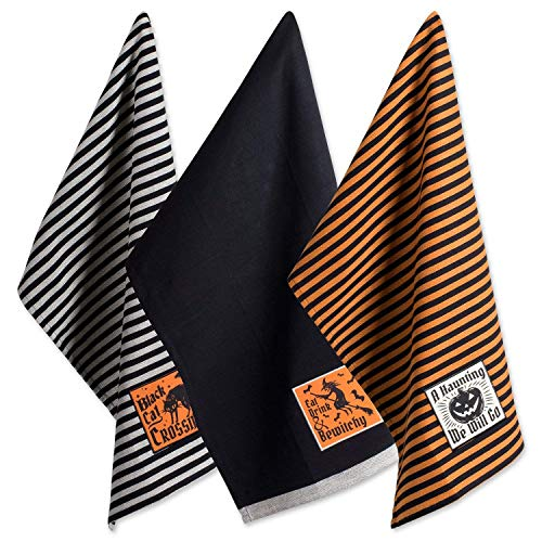 DII Cotton Halloween Holiday Dish Towels, 18x28