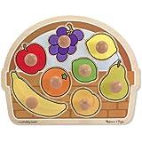 Melissa & Doug Fruit Basket Large Jumbo Knob Puzzle