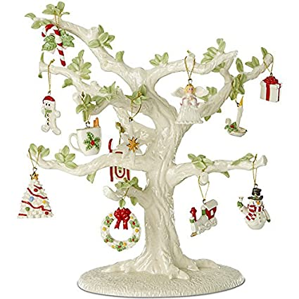 lenox christmas winter delights miniature tree ornaments - Lenox Christmas Decorations