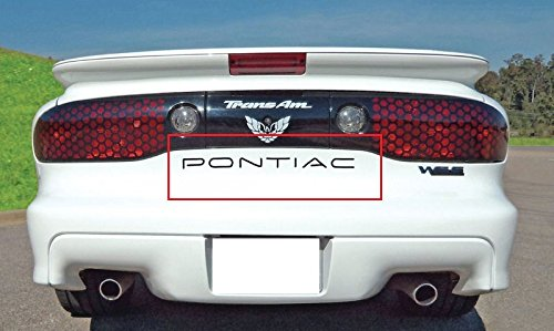 Pontiac FireBird/Trans Am 1993-2002 Piano Black Rear Bumper Insert Letters (Am Piano)