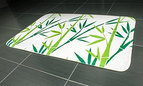 Tatkraft Green Bamboo Bath Mat 50X80 cm Ultra Soft Anti Slip