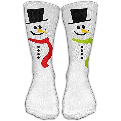 Unisex Snowman Clipart High Stockings Winter Socks (Snowman Clipart)