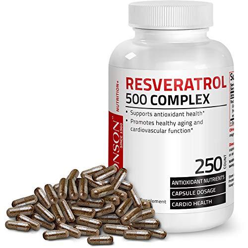 Bronson Resveratrol 500 Complex, 250 Capsules