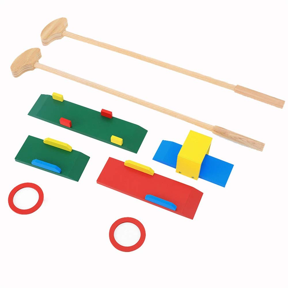 Golf Toys Set Wooden Children's Golf Club Toy Set Kindergarten Outdoor Fitness Sports Toys Indoor Boy Baby for Boys Girls Promotes Physical & Mental Development Outdoor Indoor Exercise Toy by JIANGXIUQIN-Toy