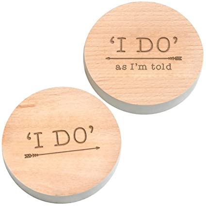 I Do I Do As Im Told Engraved Wooden Husband And Wife Coasters