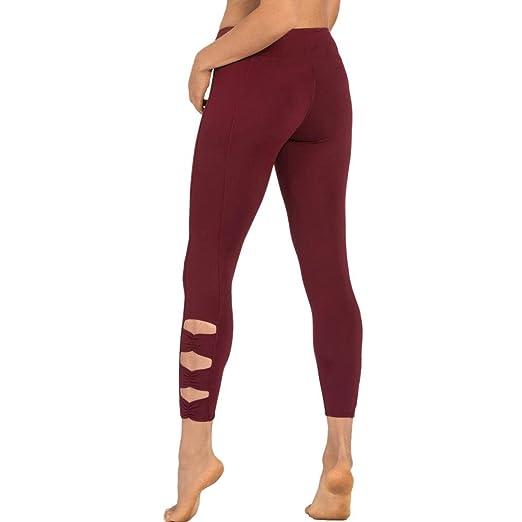 Yoga pantalones mujer, pantalón Leggings de deporte, de ...