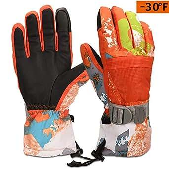 Amazon.com: Cevapro -30℉ Ski Gloves Kids Winter Snow