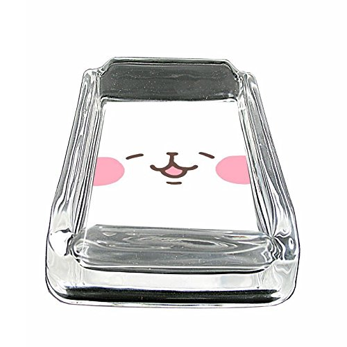 Coin Glass Ashtray - Bear Face Em1 Glass Ashtray Smoking/Coin Holder 4