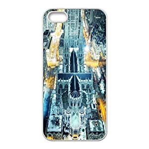 Batman building iPhone 4 4s Cell Phone Case White W9869008