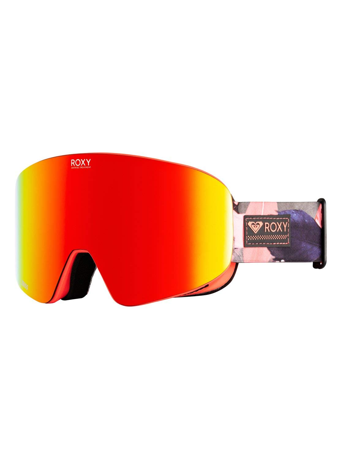 Roxy Womens Feelin - Snowboard/Ski Goggles - Women - One Size - Pink Living Coral Plumes One Size by Roxy