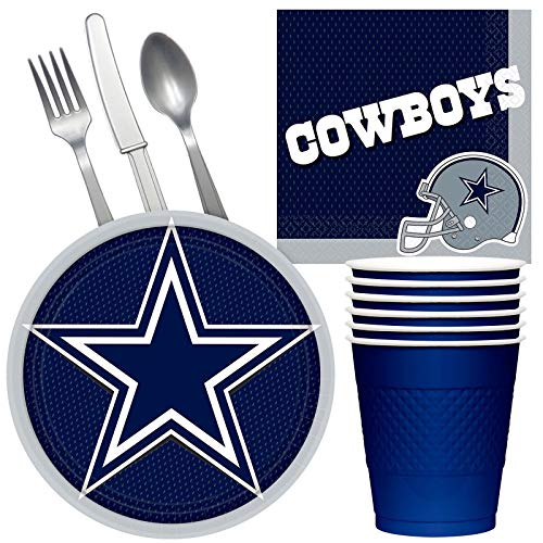 Costume SuperCenter NFL Dallas Cowboys Tailgate Party Pack (for 16 Guests) -
