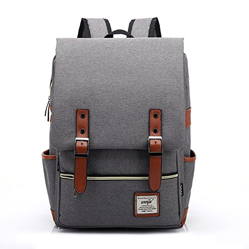 MAGE MALE Slim 16 inch Business Laptop Backpack Elegant Casual Daypacks Outdoor Sports Rucksack School Shoulder Bag for Men Women, Tear Resistant Unique Travelling Backpack in Grey