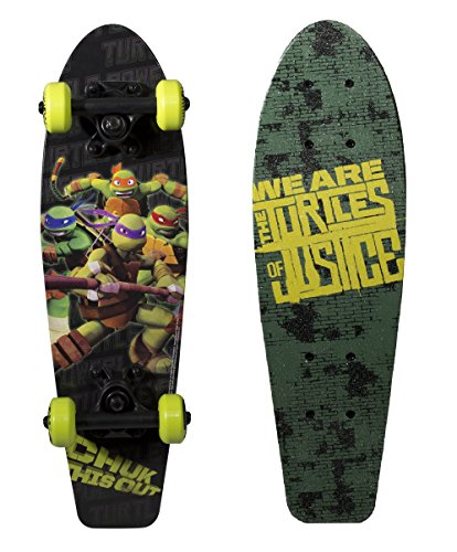 PlayWheels Teenage Mutant Ninja Turtles 21' Wood Cruiser Skateboard, Turtles of Justice