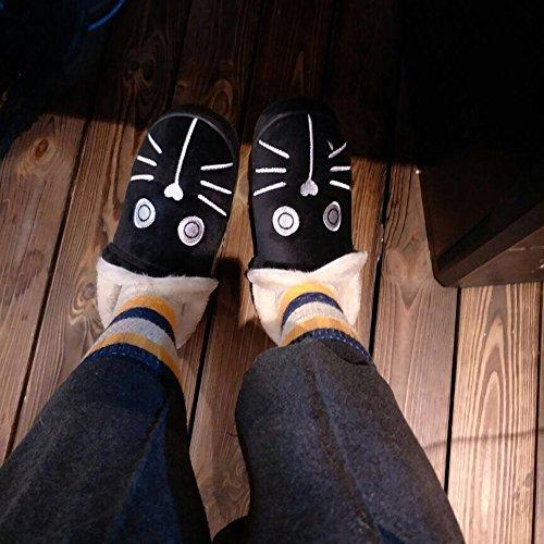 DKKK Snow Slipper Shose Leather Short Black Mini Fur Winter Boots Linned Suede Boot Women's Faux rXxYqr