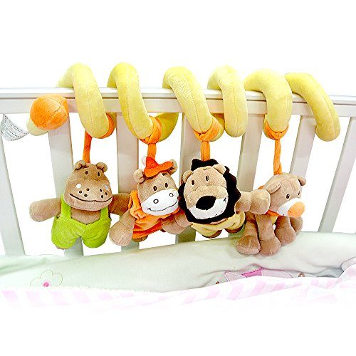 Beebeerun Spiral Activity Toy with Stuffed Animal for Baby
