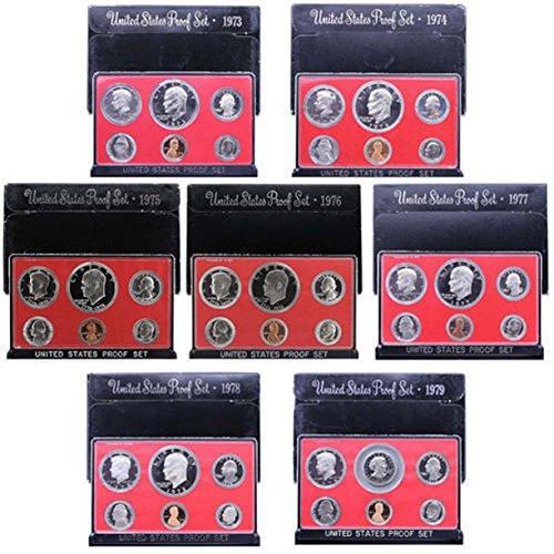 1979 Us Mint Set - 1973 S -1979 US Mint Set Clad Proof