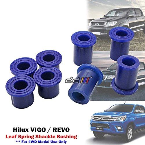 8pcs Poly Rear Spring Shackle Bushing For Hilux VIGO REVO 4x4 4WD 2005-ON