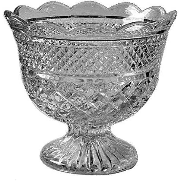 Crystal Bowl Wexford disctd crystal anchor hocking wedding table decor vintage Anchor hocking centerpiece bowl serving dining