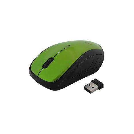 Wireless Optical Mouse 2.4 GHz opitsche PC, De Ordenador Portátil Ratón 2400dpi inalámbrico verde verde