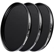 Neewer 3 Pieces 77MM Optical Glass Infrared IR Filter Kit for Sony Canon Nikon Olympus Pentax Panasonic DSLR Cameras, Includes IR720 IR760 IR850 Filters, Lens Cap and More