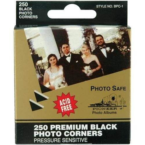 12 PACK PHOTO CORNERS BLACK 250/BOX Papercraft, Scrapbooking (Source Book)