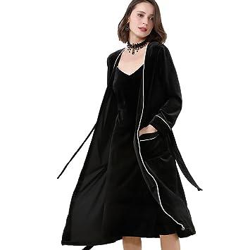 pijamas de franela de invierno para mujeres set de bata de casa de 2 piezas sexy