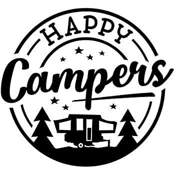 Amazon.com: TDT Printing & Custom Decals The Happy Camper