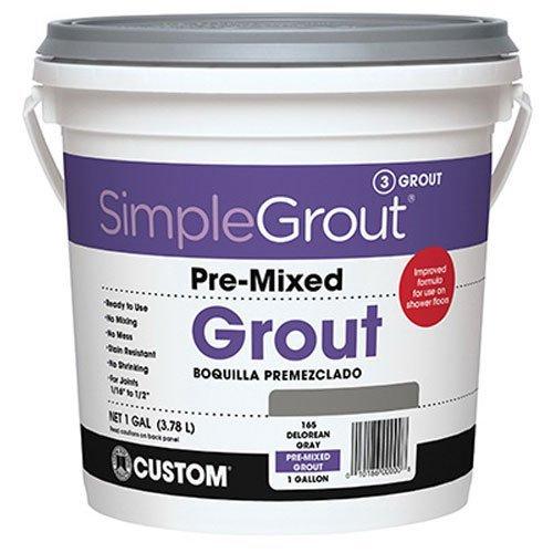 (Custom PMG3811 1-Gallon Simple Premium Grout, Bright White,)