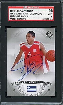 Amazoncom 2013 14 Sp Authentic 36 Giannis Antetokounmpo