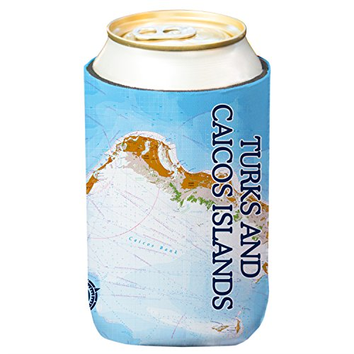 Altered Latitudes Turks & Caicos Islands Chart Standard Can Cooler (4-Pack)
