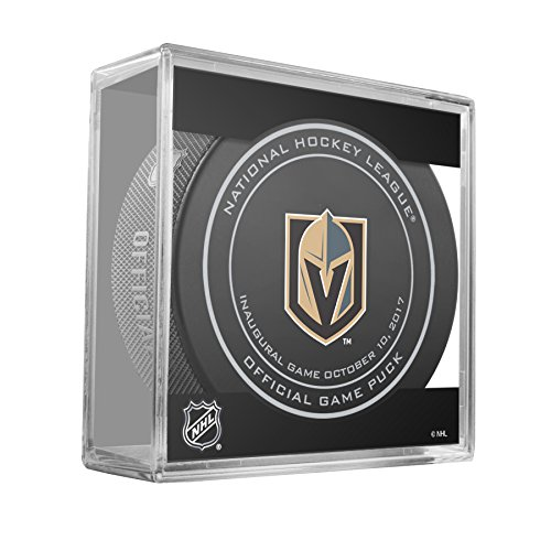 fan products of 2017 Vegas Golden Knights Inaugural Game Oct 10, 2017 Game Hockey Puck W/Cube
