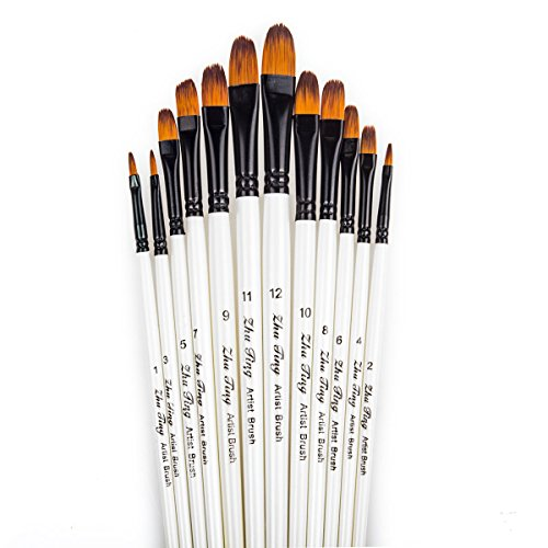 Latest Collection Of Soft-grip Combo Filbert Pinceau-taille 10 Softgrip Brushsize Attractive Fashion Art Supplies