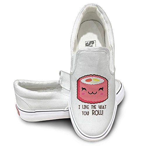 SH-rong Cute Sushi Roll Emoji Unisex Canvas Sneakers Shoes Size 43 (Boogie Shoes Dance Costumes)