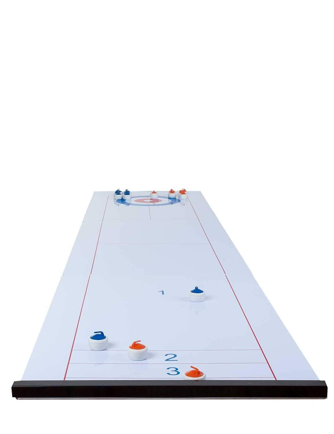 2 in 1 Curling and Shuffleboard Table-Top Game - 180cm Engelhart
