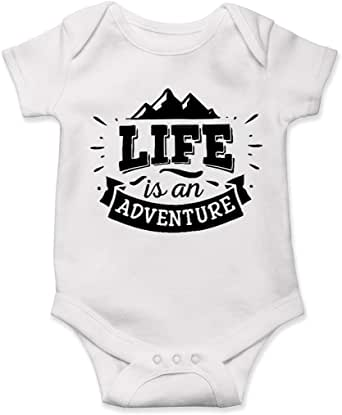 Amazon.com: Baby Onesie, Camping, Life is an Adventure