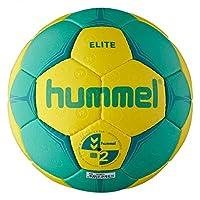 Hummel Erwachsene Handball ELITE, Neon Yellow/Neon Dark Green, 3, 91-789-5158