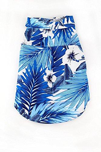 Midlee Blue Hawaiian Dog Shirt by (XX-Large)