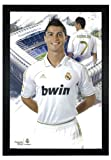 Cristiano Ronaldo, Real Madrid Soccer Player Futbol 24''x36'' Framed Sports Poster (F3-1000)