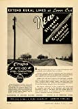 1939 Ad Indiana Steel & Wire Co Crapo HTC-130