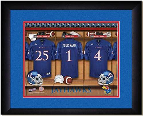 Kansas Jayhawks University Football Team Locker Room Personalized Jersey Officially Licensed NCAA Sports Photo 11 x 14 Print (Locker Kansas Jayhawks Ncaa Room)