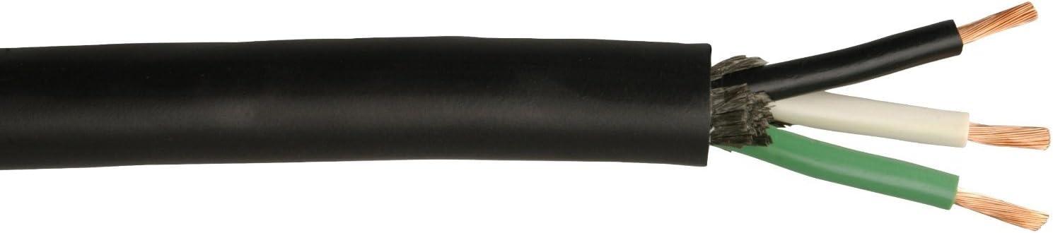 Coleman Cable 55044503 18//3 Sjeoow Seoprene Service Cable Black 250-Feet