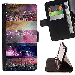 /Skull Market/ - universe sky nature lines pattern star For Samsung ALPHA G850 - Caja de la carpeta del tir??n del cuero de la PU [con ranuras para tarjetas y cierre de solapa magn? -