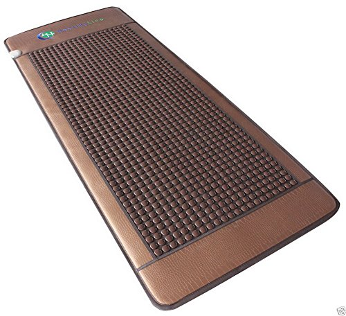 HealthyLine Far Infrared Heating Mat - For Pain Relief, Stress & Insomnia 76'' x 32'' | Natural Tourmaline Stone | Negative Ions (XL & Firm) | FDA Registered by HealthyLine (Image #2)