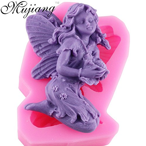 1 piece 3D Angel Fairy Silicone Soap Mold Resin Clay Candle Molds Chocolate Fondant Cake Moulds Kitchen Baking Cake Tools CD263