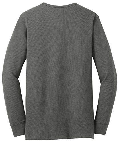 Upscale Lightweight Mini Waffle Long Sleeve Thermal Shirt - Deep Heather Color, (Lightweight Thermal Shirt)