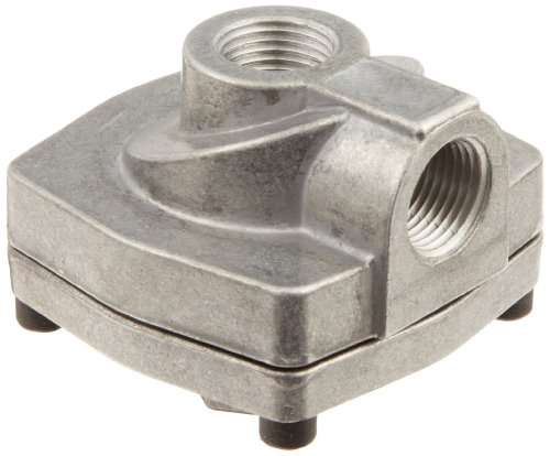 - Parker 0R37B Die Cast Aluminum Quick Exhaust Valve with Nitrile Static Seal, 3/8