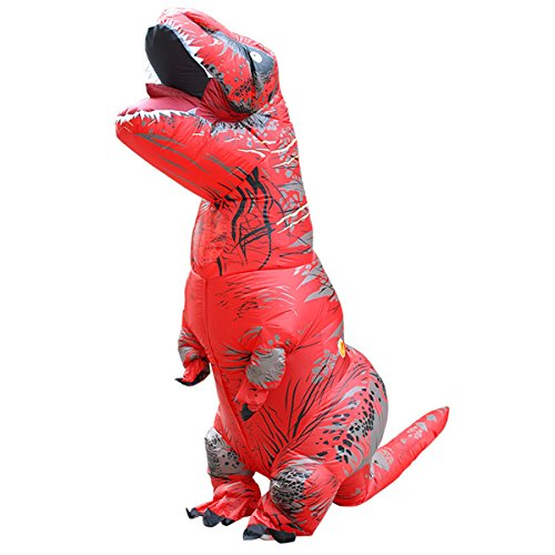 Tricandide Inflatable Dinosaur T-REX Adult Halloween Costume Cosplay Blow Up Costume Red - Inflatable T Rex Costume Toddler