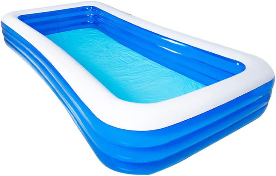 Lili Piscina Hinchable Fast Set Piscina Familiar Rectangular Altura Regulable Piscina De PVC Azul Incluye Tapón De Drenaje,388×196×60cm/12.72×6.43×1.96ft: Amazon.es: Hogar