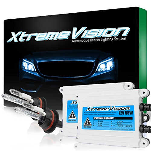 - XtremeVision 55W AC Xenon HID Lights with Premium Slim AC Ballast - 9004 5000K - 5K Bright White - 2 Year Warranty